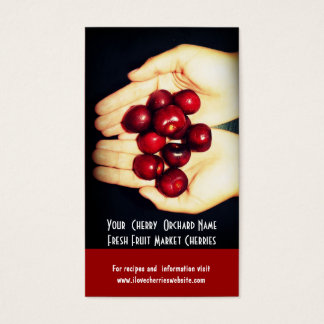 Fresh Cherries! Cherry Orchard Fruit Growers Business Card