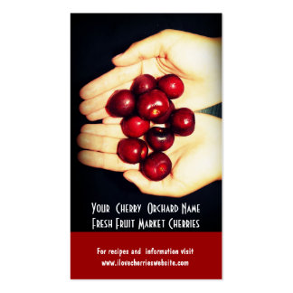 Fresh Cherries! Cherry Orchard Fruit Growers Business Card Templates