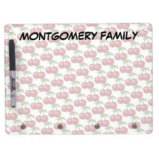 Fresh Cherries Dry Erase Board With Keychain Holder