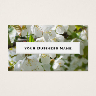 Fresh Cherry blossoms Flower Business Cards