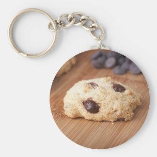Fresh Chocolate Chip Cookie Basic Round Button Keychain