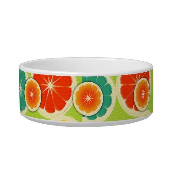 Fresh Citrus Fruit Design, Cute Colorful Bowl