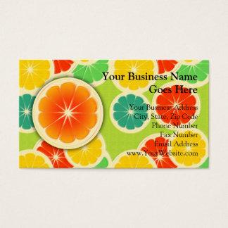 Fresh Citrus Fruit Design, Cute Colorful Business Card
