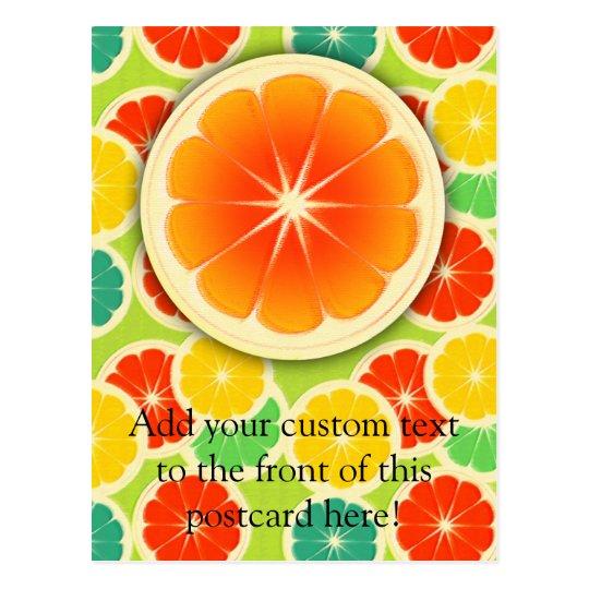 Fresh Citrus Fruit Design, Cute Colorful Postcard