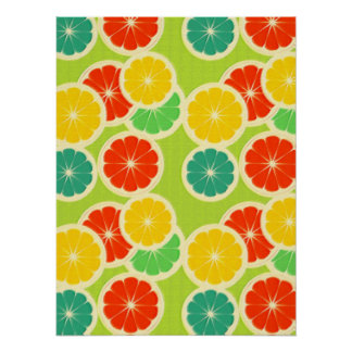 Fresh Citrus Fruit Design, Cute Colorful Posters