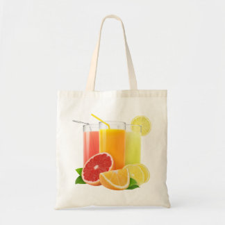 Fresh citrus juices tote bag