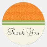 Fresh Citrus Orange Thank You Wedding Stickers
