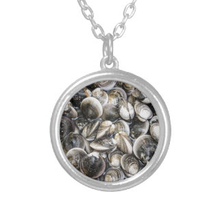 Fresh Clams Round Pendant Necklace