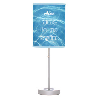 Fresh Clear Cool Blue Aquatic Pool Water Swimming Desk Lamp