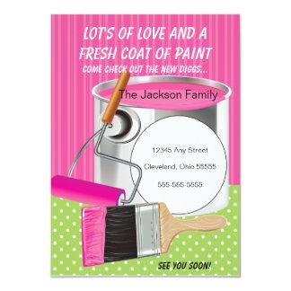 Fresh Coat Of Paint Moving Announcement
