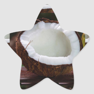 Fresh Coconut chefs healthy flavour cuisine foods Star Sticker