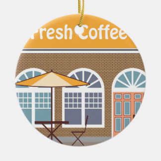 Fresh Coffee Cafe Ceramic Ornament