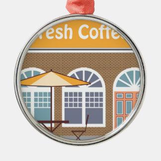 Fresh Coffee Cafe Metal Ornament