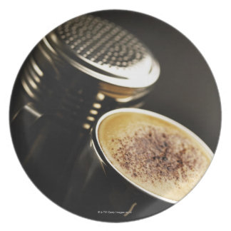 fresh coffee dinner plate