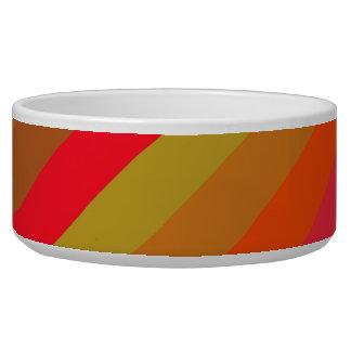 Fresh Colorful Retro Stripes - Pet Bowl