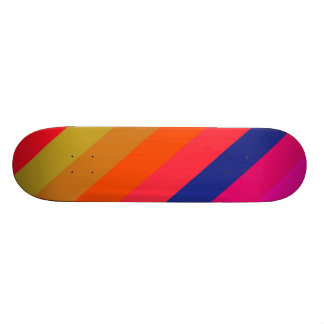 Fresh Colorful Retro Stripes - Skateboard