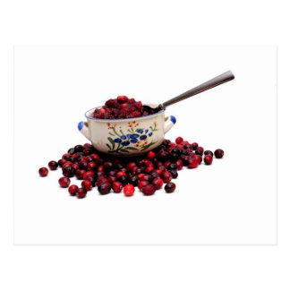 Fresh Cranberries And Sauce Postcard