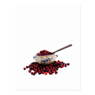 Fresh Cranberries And Sauce Postcard