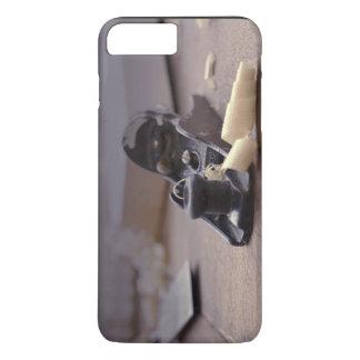 Fresh curly wood shavings on table iPhone 8 plus/7 plus case