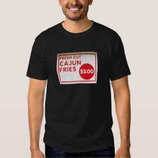 Fresh Cut Cajun Fries Food Advertisement Sign Tee Shirt