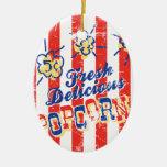 Fresh Delicious Popcorn Ornament — Oval