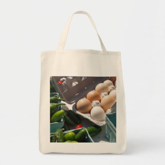 Fresh Eggs and Peppers Organic Market Bag