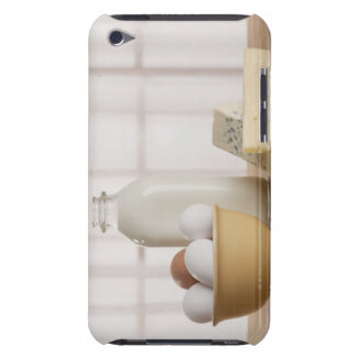 Fresh eggs cheese and milk on counter iPod touch Case-Mate case