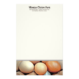 Fresh Eggs Chicken Farmers Personal Writing paper
