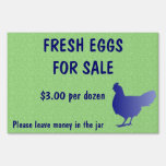 Fresh Eggs for Sale Farm Yard Sign Green Color