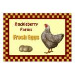 Fresh Eggs Gift Tags Business Card Template