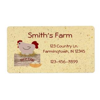 Fresh Eggs Label Shipping Label