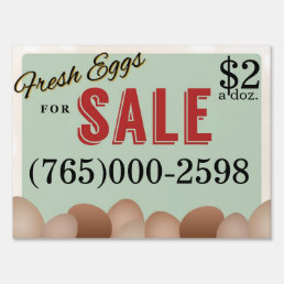 Fresh Eggs Lawn Sign