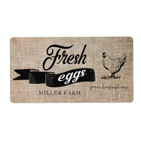 Fresh Eggs Vintage ⎢Egg Carton Label