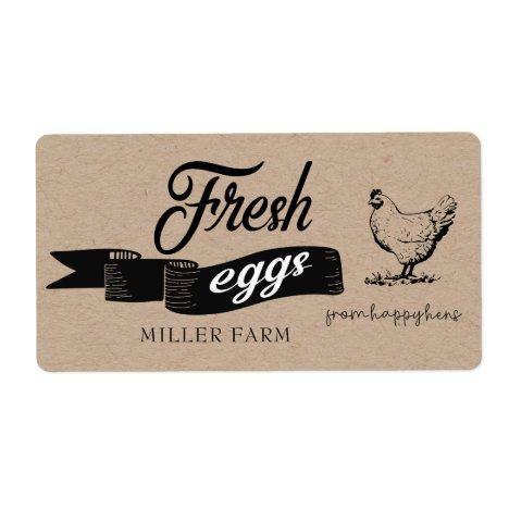 Fresh Eggs Vintage ⎢Egg Carton Label