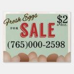 Fresh Eggs Yard Signs