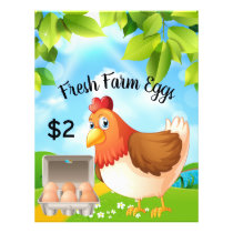 Fresh Farm Eggs Business Promotional Flyer