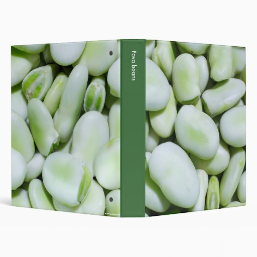 Fresh fava beans 3 ring binders