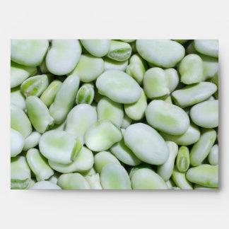 Fresh fava beans envelope