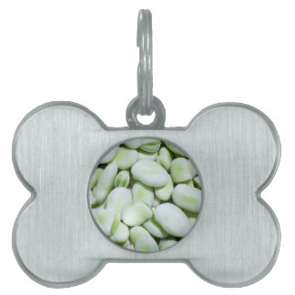 Fresh fava beans pet name tag