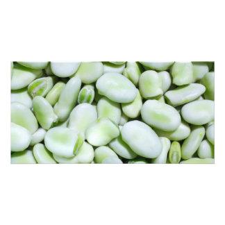 Fresh fava beans photo card