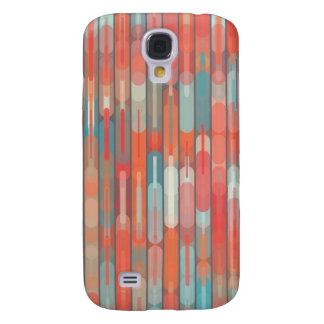 Fresh Feminine Cream Orange Aqua Trendy Geometric Samsung S4 Case