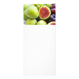 Fresh figs and grape rack card
