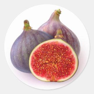 Fresh figs classic round sticker