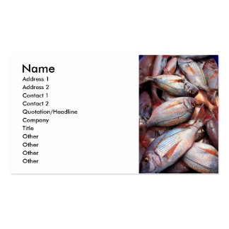 Fresh fish Double-Sided standard business cards (Pack of 100)