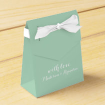 Fresh Floral Favor Box in Mint Green