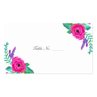 Fresh Florals Guest Table Escort Cards Business Card