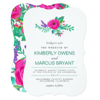 Fresh Florals Wedding Invitation / Floral Back
