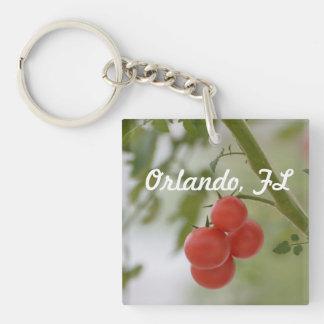 Fresh Florida Tomatos Single-Sided Square Acrylic Keychain