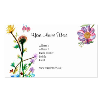 Fresh Flowers Card Business Card