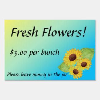 Fresh Flowers for Sale Farm Yard Sign